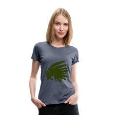 Geschenke Shop | Indianer oliv - Frauen Premium T-Shirt T Shirts For Women, Tops, Fashion, Apache Indian, Funny Women, Funny T Shirts, Woman Shirt, Native Americans, Olives
