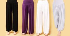 $21 for 100% Cotton Relaxed Fit Yoga Pants