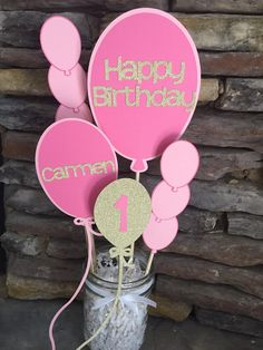 Ballon Birthday Party Centerpiece Balloon by PaperMadeParty