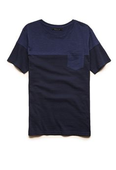 Striped Pocket Tee | 21 MEN #21Men