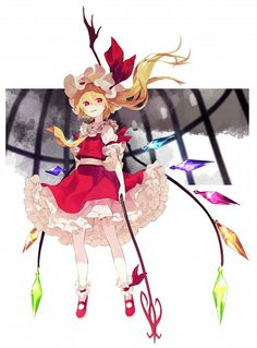 Touhou Project- Flandre Scarlet artwork by Shihou
