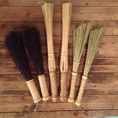 Broomcorn brushes and sticks for drummers.