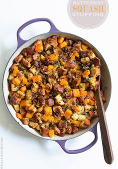 Butternut Squash and Sausage Stuffing