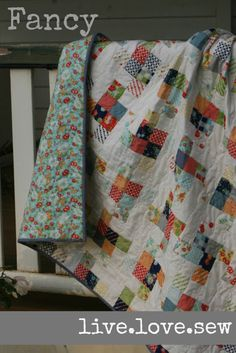 Hi! My name is Keera from live.love.sew., and I am so excited to be sharing my first Moda Bake Shop project with you {!!}. This lap-quilt is so quick to make up, fresh and summer-y and super-satisf...