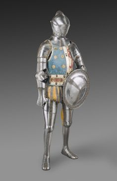 Philadelphia Museum of Art - Collections Object : Elements of an Armor Garniture, including Exchange Burgonet (helmet) and Shield