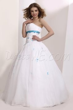 $124.99 Dresswe.com SUPPLIES Strapless Ball Gown Empire Waistline Quinceanera Dress #Dresswe pretty dress #Dresswe cute dress #Dresswe fashion dress