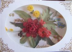 Boxed Wild Flower Card