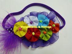 Tutorial Tiaras, Moños para Niñas, Moños de Listón ,Hair flowers - YouTube