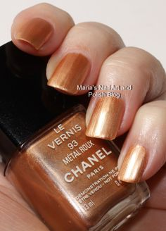 Chanel Metal Roux 93 swatches and comparisons - vintage