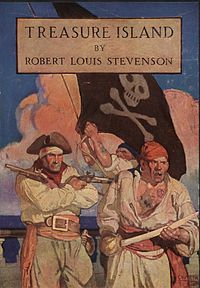 """Treasure Island is an adventure novel by Scottish author Robert Louis Stevenson, narrating a tale of """"buccaneers and buried gold""""."""
