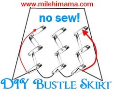 How to Make a Bustle Skirt, Cheap and Fast-Cannot wait to try!!