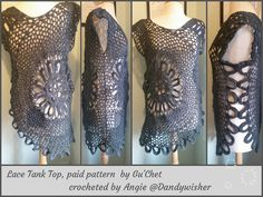 Crochet Tank Top (Plus Size). Crochet Shirt. Crochet Top. PDF Pattern (paid)