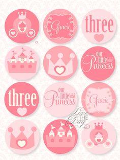 Pinkalicious Princess Birthday Cupcake Toppers!