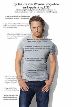 """"""" Loved this one too with Sam in that tee shirt from Vanity Fair article. Outlander Gifs, James Fraser Outlander, Outlander Quotes, Outlander Tv Series, Outlander Recipes, Watch Outlander, Sam Heughan Caitriona Balfe, Sam Heughan Outlander, Sam And Cait"""