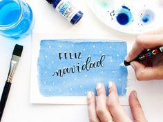 La Gata Con Botas | Christmas lettering tutorial