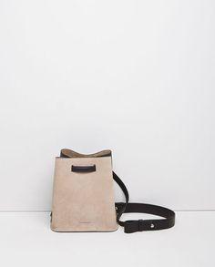 Two-Tone Bucket Bag by Jil Sander