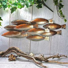 Steel and  Copper Fish Wall Art Sculpture LT063
