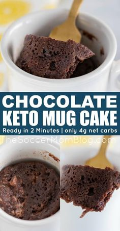 If you like chocolate, then you will love this amazing chocolate keto mug cake! This easy mug cake recipe is perfect for someone on a keto diet. Try making this delicious chocolate keto mug cake as a simple dessert for one! Keto Chocolate Mug Cake, Keto Mug Cake, Chocolate Mug Cakes, Delicious Chocolate, Chocolate Flavors, Chocolate Recipes, Delicious Food, Easy No Bake Desserts, Low Carb Desserts