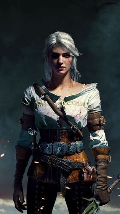 Ciri - The Witcher 3 The Witcher 3, The Witcher Wild Hunt, Witcher 3 Art, The Witcher Books, The Witcher Geralt, The Witcher Wallpapers, Fantasy Characters, Female Characters, Gothic Characters