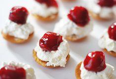 No Bake - Mini Cherry Cheesecake bites