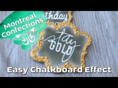 ▶ How to - Chalkboard effect decorated cookies - YouTube
