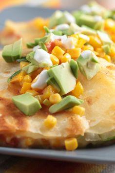 Copycat Applebee's Low Fat Veggie Quesadilla (Weight Watchers)