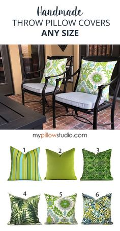 Green Pillow Covers for Green Home Decoration #GreenDecor #Handmade #DIYDecor #SofaPillows Green Pillow Covers, Couch Pillow Covers, Green Pillows, Pillow Cover Design, Sofa Pillows, Designer Pillow, Designer Throw Pillows, Outdoor Cushion Covers, Handmade Pillow Covers