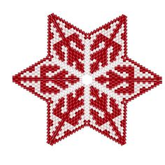 Scandi Style Snowflake Star Geometric Beading Pattern or Tutorial This is an intermediate to advanced pattern for those that know how to make a warped square and join them into a star. Perfect for your Scandi inspired Christmas! Make your own beautiful piece of art from 11/0 delicas.