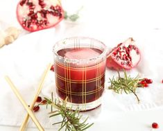 This Pomegrante Ginger recipe is not only fun and festive - it's simple too! Made with only 3 ingredients and 100% juice, this just might become a new tradition.