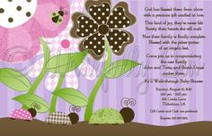 Ladybug Garden Baby Shower  Print Yourself by WritefullySewInvites, $14.00