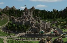 Medieval Defensible Realistic Castle Minecraft Project