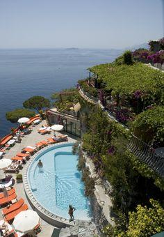 The incredible pool at Il San Pietro - Positano, Italy (Amalfi Coast) #hotel #luxurytravel #travel