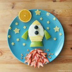 Healthy snacks for preschoolers at school printable free Cute Snacks, Lunch Snacks, Cute Food, Healthy Snacks, Good Food, Funny Food, Lunches, Space Snacks, Toddler Meals