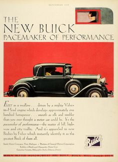 1929 Ad Buick Motor Auto Vehicle Flint Michigan Engine Automobile Fisher HB2