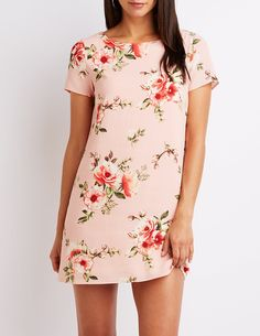 090a8d0a2007 Floral Caged-Back Shift Dress