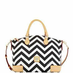 Dooney and Bourke Chevron coated cotton fabric satchel.  UMM, HELLO GORGEOUS!!