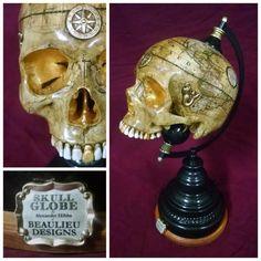 Skull Globes by Alexander Hibbs, Beaulieu Designs.