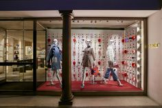 The Fendi ID-ea capsule collection displayed in the new boutique window theme in London