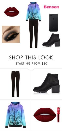 """Benson 7"" by shadow-killer-101 on Polyvore featuring 7 For All Mankind, River Island and Lime Crime"