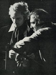 Terence Stamp and Federico Fellini