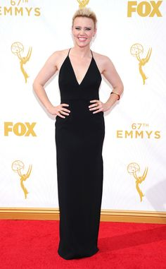 Kate McKinnon from 2016 Emmy Nominees' Best Looks The actress is nominated for her third individual Emmy for her work on Saturday Night LIve. Last year, she walked the red carpet in a black Badgley Mischka halter gown.