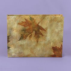 Autumn weddings accessories idea features this Spiral-bound guest book features maple leaf design (Personalized) ZBK82400P $33.90