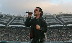 Bono in full flight at Croke Park. Croke Park, Dublin, Ireland, Irish, Celebrity, People, Travel, Image, Viajes