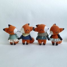 Little foxes in clothing, inspo