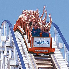 Adventureland (Altoona, IA) - Loved this place - Tornado, Silly Silo, Log Ride, Sky Ride, Galleon, Teacups, Raging River - It's changed a lot in the last 20 years.