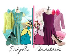 Drizella & Anastasia: Dapper Day by karlynedc on Polyvore featuring polyvore, fashion, style, Emily and Fin, Valentino, Fat Face, Lodis, Tiffany & Co., Forever 21, disneybound and dapperday