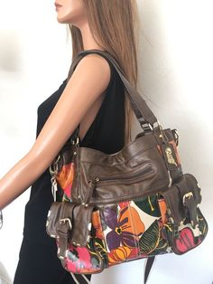 Carlos Santana Bag Messenger Can Peabody Floral Designer Fashion Hip  #CarlosSantana #MessengerCrossBody