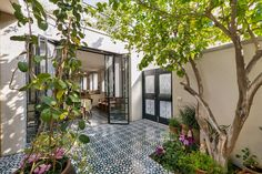 Terrace in the Townhouse decorated in the style of old Neve Tzedek, Israel
