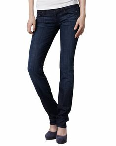 Classic Straight-Leg Los Angeles Dark Jeans by 7 For All Mankind at Bergdorf Goodman.