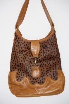 Leopard Print leather Bag. $174.00